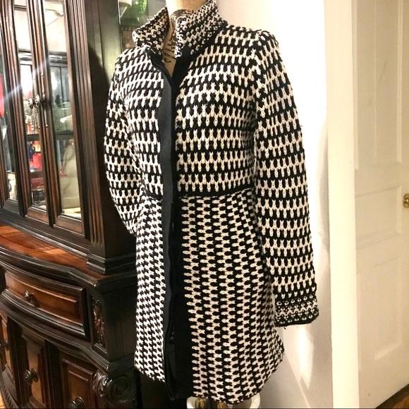 Cynthia Rowley Jackets & Blazers - Cynthia Rowley crocheted lambs wool overcoat